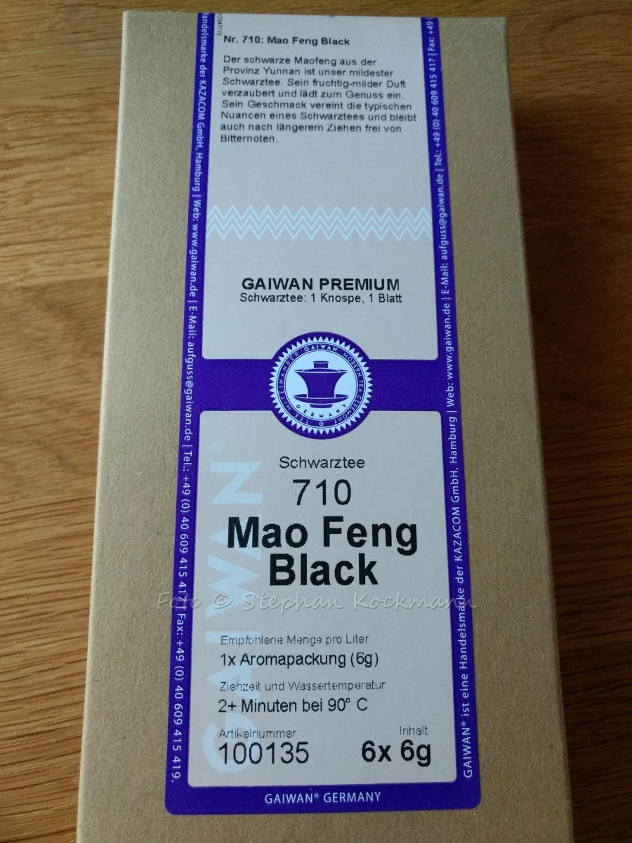 GAIWAN Tee Mao Feng Black