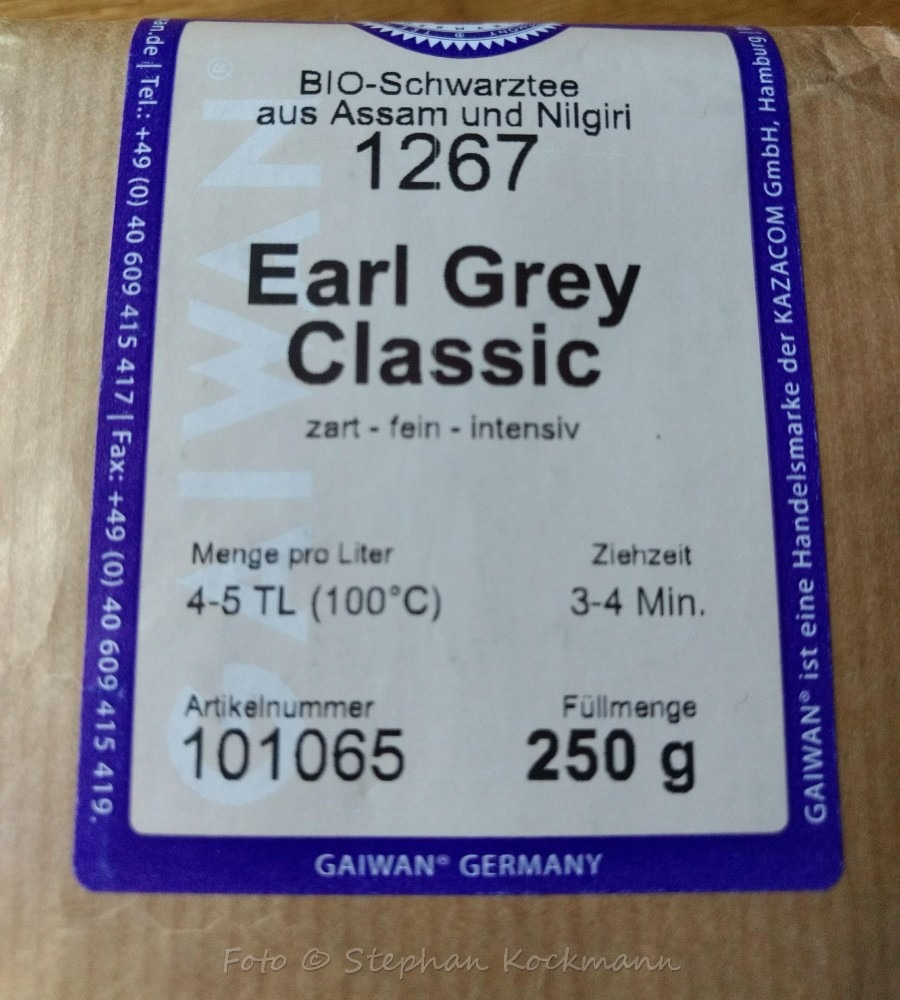 GAIWAN Tee - Earl Grey Classic