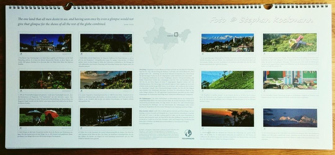 Teekampagne Darjeeling Panorama-Kalender