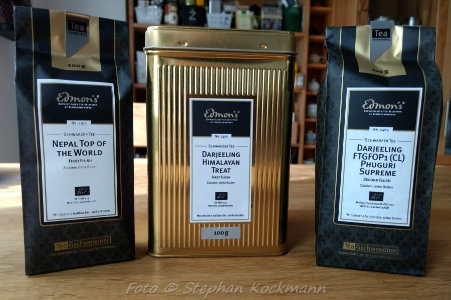 TeeGschwendner Tees aus Darjeeling und Nepal