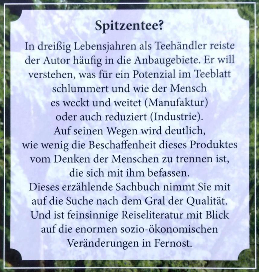 Hanspeter Reichmuth: Der Teekultivar - Klappentext