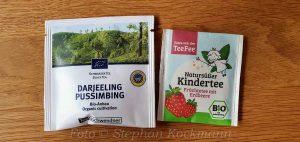 Kostenlose Zugaben: Teeproben