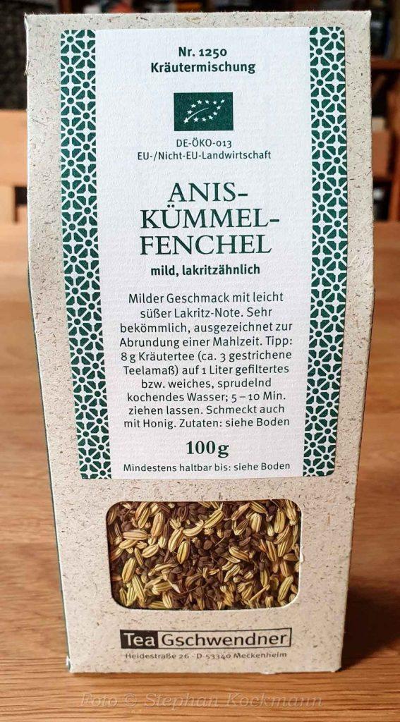Gewürz-Tee Nr. 1250, Anis-Kümmel-Fenchel von TeeGschwendner