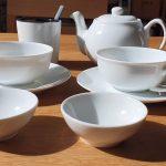 Ronnefeldt Tee-Tassen und Teebeutel-Ablage
